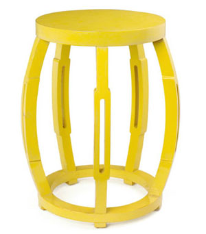 yellow taboret table