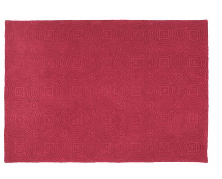 Berry solid rug