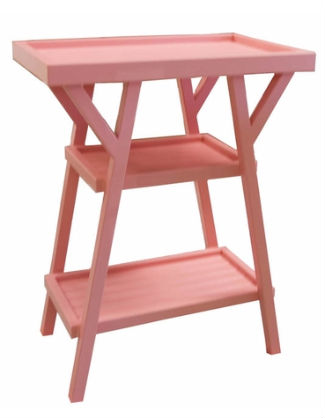 Pink coral side table