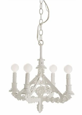 A splash of whitecrisp white chandeliers cottage bungalow this fixture adds a one of a kind splash of white to any small space of course we love it aloadofball Images