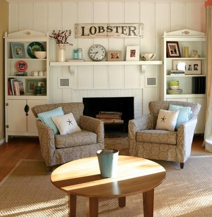 Get cozy in upholstered beach cottage furniture cottage for Cottage style furniture