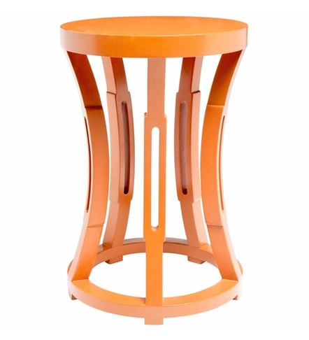 Orange Hour Glass Table