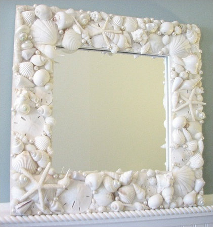 Cottage & Bungalow White Shell Treasures Mirror