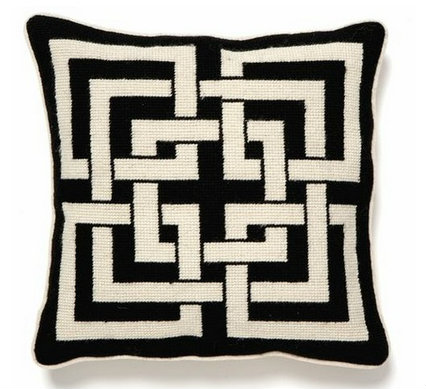 Cottage & Bungalow Shanghai Links Needlepoint Pillow