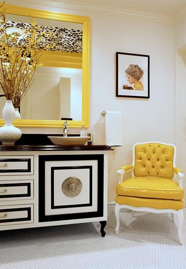 interiors with contrasting color palettes