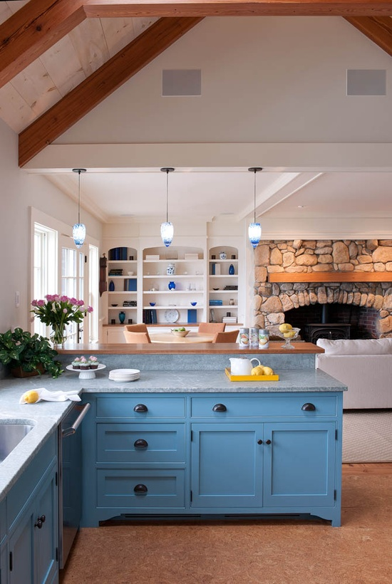 stone blue cabinets