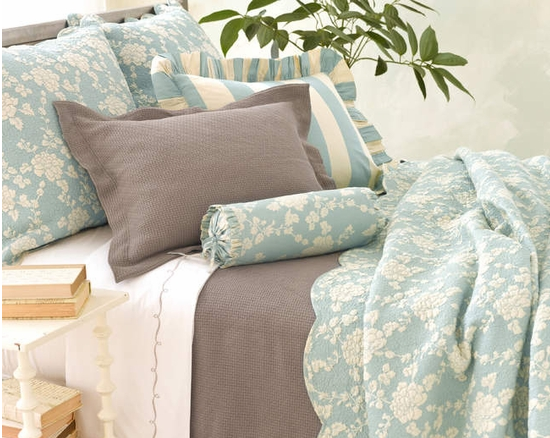 Madeline Blue Quilt from Cottage & Bungalow