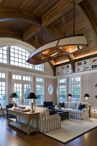 Boat on the ceiling