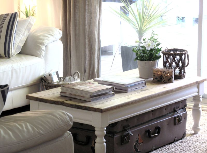 styling a coastal coffee table | cottage and bungalow