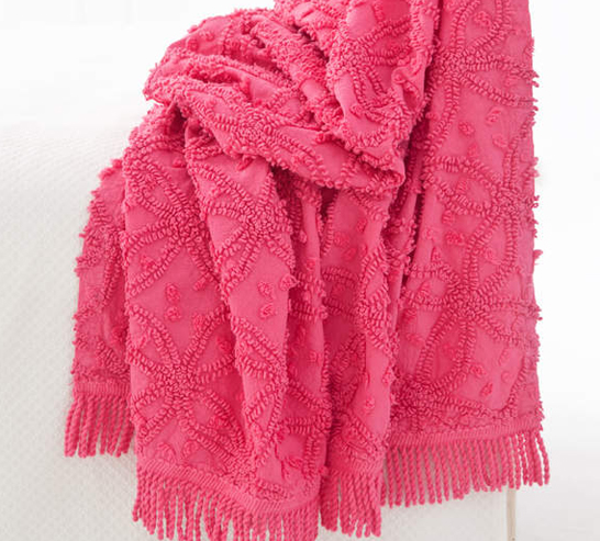 Fuschia Throw