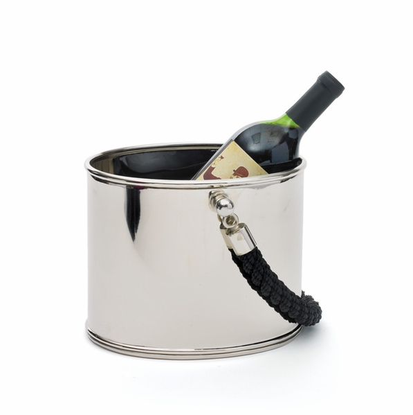 nickel and rope ice bucket