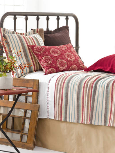 striped coverlet