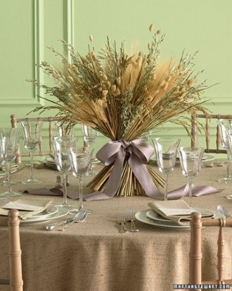 dried grass centerpiece
