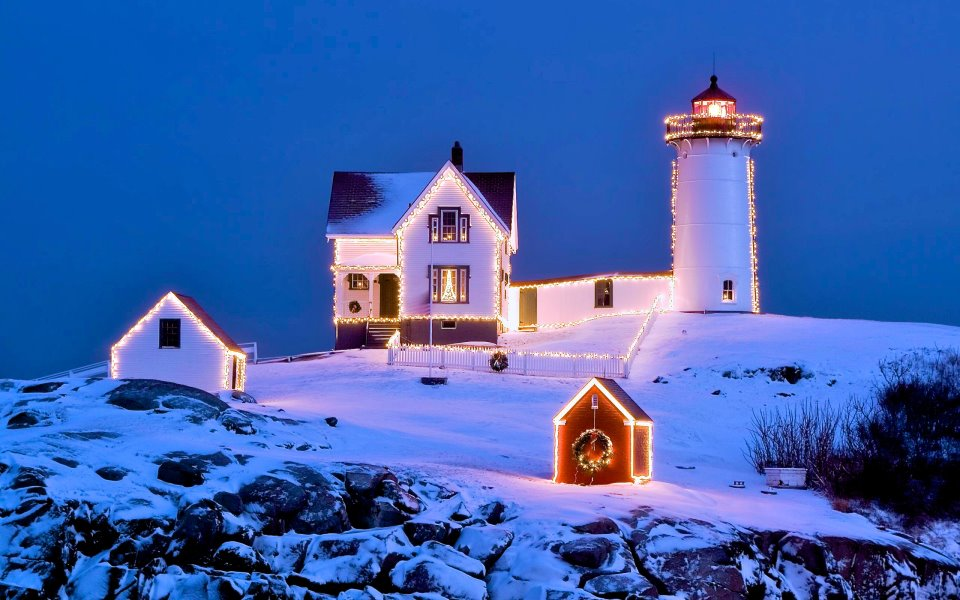 Lighthouse at Christmas