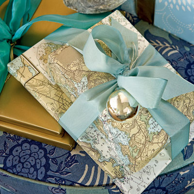 beach inspired gift wrap