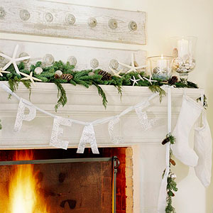 coastal christmas mantle