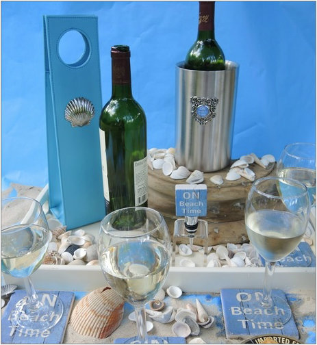 On Beach Time Wine Lovers Gift Collection