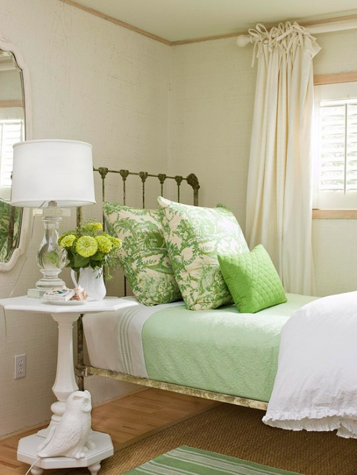 coastal home decor in green