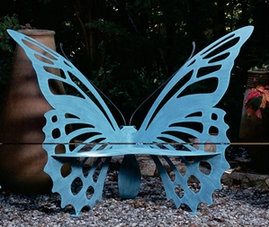 Small Butterfly Bench Source: Cottage & Bungalow
