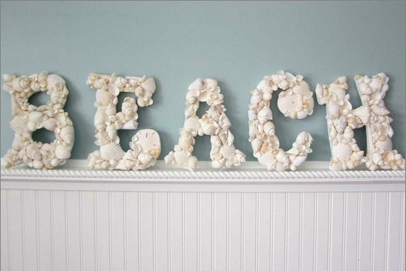 shell accents and home decor