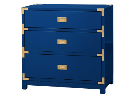 Campaign style chest in coastal colors