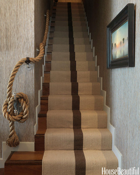 simple striped rug
