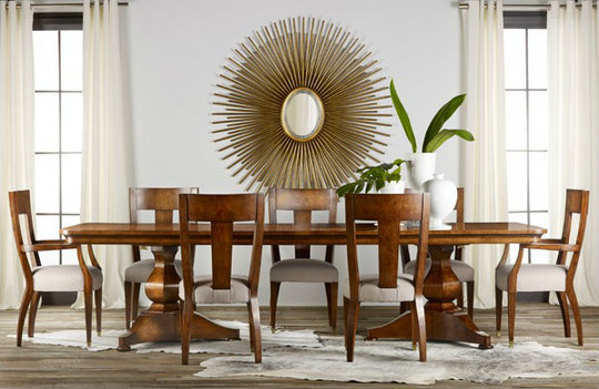 Continental Burl Dining Table Source: Cottage & Bungalow