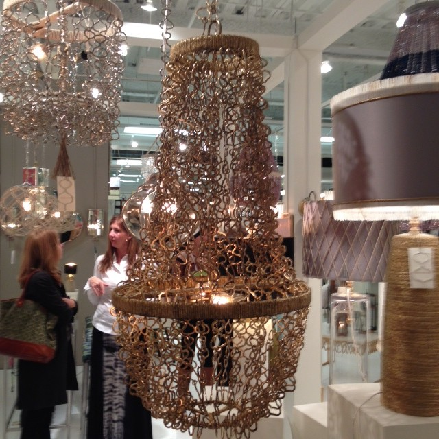 delicate gold maille lighting