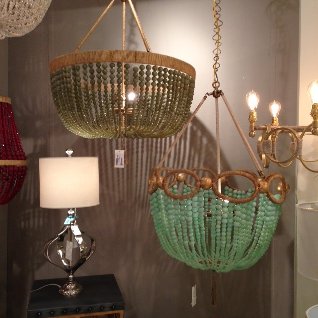 chandeliers with touches of gold with texture and beading