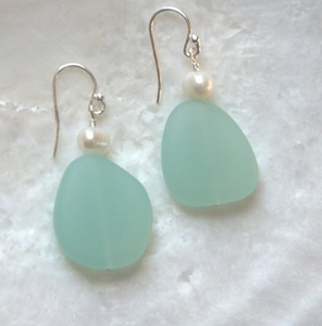 sea glass inspired earrings