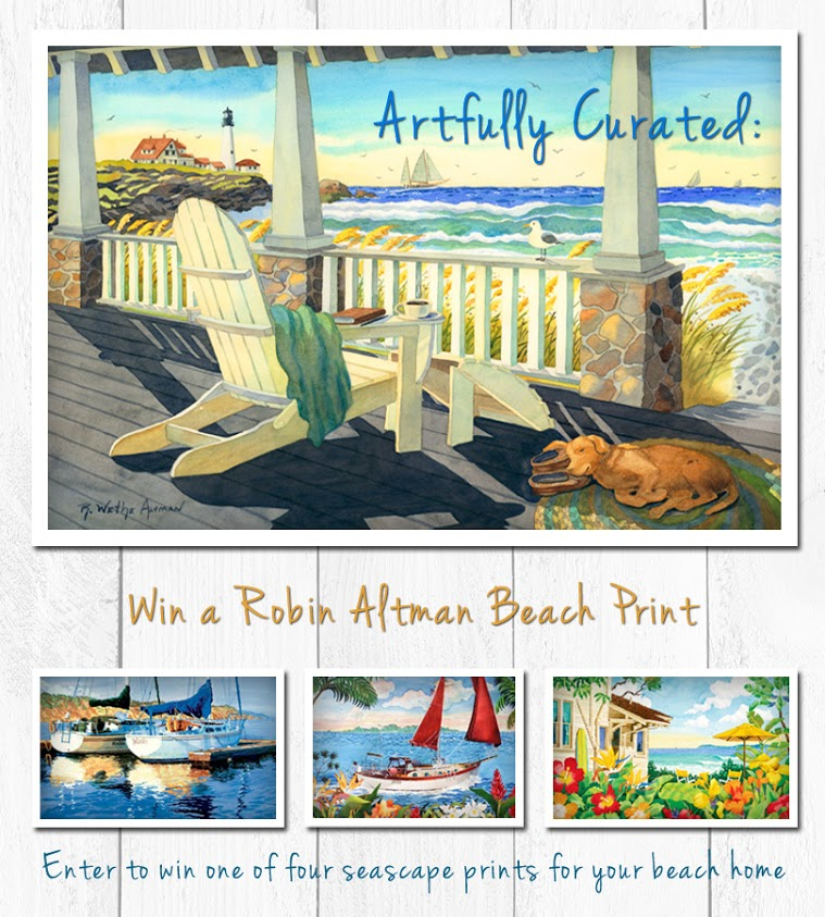 Enter 'Artfully Curated' for a Chance to Win Costal Art Prints