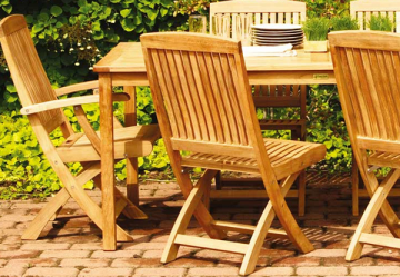 Enjoy the Brooke Folding Chairs. Source: Cottage and Bungalow
