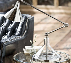 cottage and bungalow-glass funnel beaker lamp