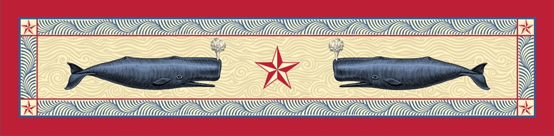 cottage and bungalow red star table runner