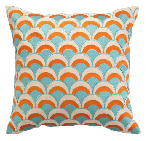 cottage and bungalow turquoise pillow